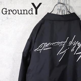 ヨウジヤマモト(Yohji Yamamoto)のGround Y 逆さロゴ コーチジャケット  Yohji Yamamoto(ナイロンジャケット)