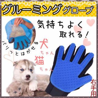 グルーミンググローブ(右手)ごっそり取れて☆気持ちいい☆犬・猫 ラバーグローブ♡(その他)