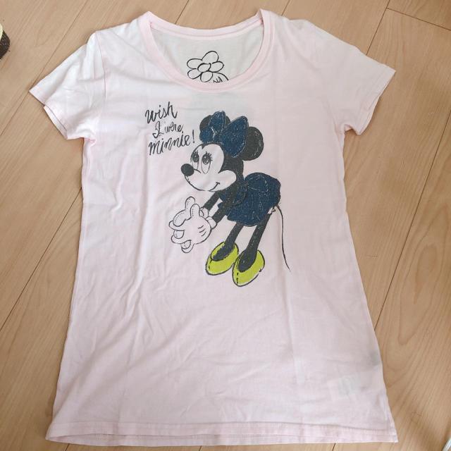 Disney(ディズニー)のディズニー moussy マウジー Tシャツ ミニー カジュアル シンプル レディースのトップス(Tシャツ(半袖/袖なし))の商品写真
