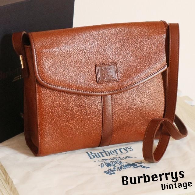 23dc626faf19 BURBERRY(バーバリー)のBurberrys 正規品 美品 ヴィンテージ レザー ショルダー バッグ レディースの
