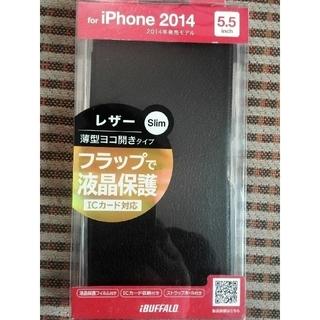 iPhone 6ケース5.5inch対応薄型横開きICカード対応バファロー製