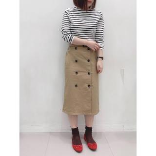ジーユー(GU)の(ほぼ新品)GUトレンチナローミディスカートS(その他)