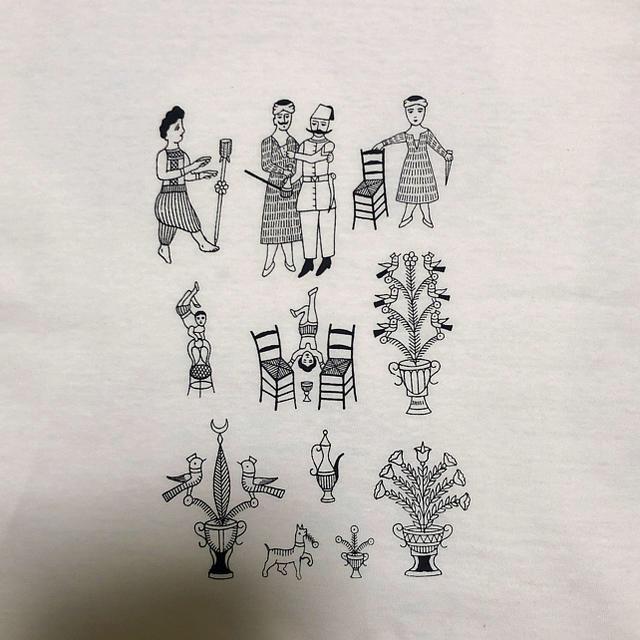 Balcony and Bed(バルコニーアンドベット)のシンプルイラストTシャツ レディースのトップス(Tシャツ(半袖/袖なし))の商品写真