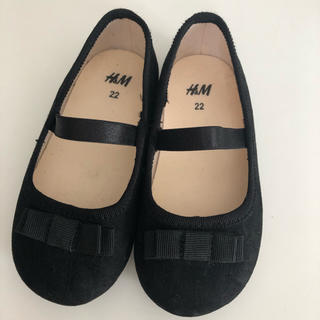 エイチアンドエム(H&M)のH&M バレイシューズ 黒 13cm/ サイズ22(フォーマルシューズ)