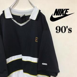 ナイキ(NIKE)の90's NIKE ナイキ 半袖 シャツ スウォッシュ ライン 切替(シャツ)