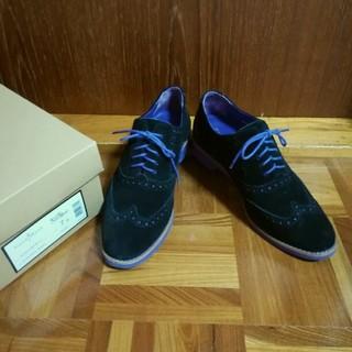 コールハーン(Cole Haan)のコールハーン オックスフォード 革靴 パープル ブラック(ローファー/革靴)