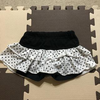 ニシマツヤ(西松屋)のドット柄スパッツ付きスカートスカパン小さめ100(スカート)