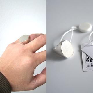 マルタンマルジェラ(Maison Martin Margiela)のメゾン マルジェラ シグネットオーバルリング ブラス 指輪 マルタン(リング(指輪))