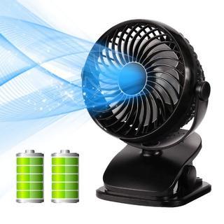 ☆夏先取セール☆卓上扇風機 クリップ式 USB充電 5200mAh 360度回転(扇風機)
