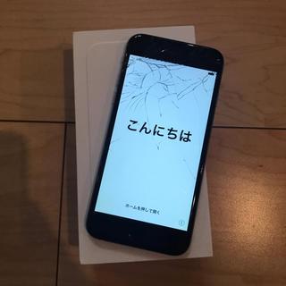 アップル(Apple)のiPhone 6 Silver 64 GB docomo 画面割れ(スマートフォン本体)