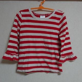 シマムラ(しまむら)の袖広 リブ ボーダーTシャツ(Tシャツ/カットソー)