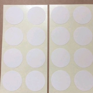 ⁂送料無料⁂《上質紙シール》ホワイト正円形・丸型シール☆3cm☆80枚(カード/レター/ラッピング)