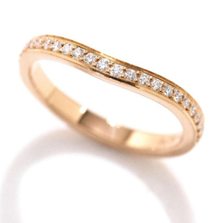 カルティエ(Cartier)のカルティエ バレリーナ カーブ ハーフ エタニティ ピンキーリング ダイヤ(リング(指輪))