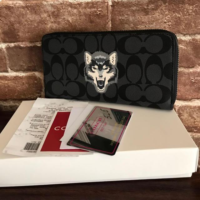 8921a86ece5a39 COACH - COACH 長財布 F31520 ウルフモチーフの通販 by xiu's shop ...