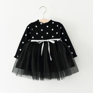 パーティー 水玉 ワンピース クリスマス ドレス キッズ ベビー 306-01(ドレス/フォーマル)