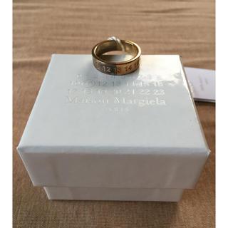 マルタンマルジェラ(Maison Martin Margiela)の18AW新品 マルジェラ ナンバリング ロゴ ツートーン リング(リング(指輪))