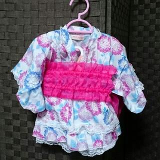 シマムラ(しまむら)の浴衣 ツーピース 80cm 甚平 女の子(甚平/浴衣)