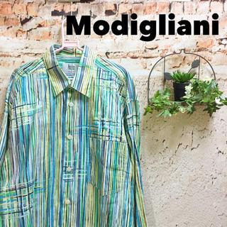 グリモワール(Grimoire)のモディリアーニ デザイン良好 柄シャツ ストライプ チェック 綿 小杉産業(シャツ)