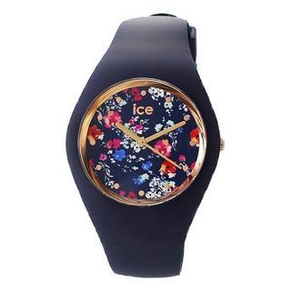 アイスウォッチ(ice watch)の新品 アイスウォッチ 腕時計 男女兼用 40mm 花柄 ネイビー 016664(腕時計)