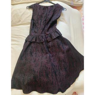 ザラ(ZARA)の個性派フォーマルドレス 黒ドレス(ミディアムドレス)