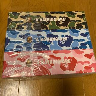 アベイシングエイプ(A BATHING APE)のレア品 希少 未使用 BAPE  ノベルティー BOXティッシュ3箱ABCカモ(その他)