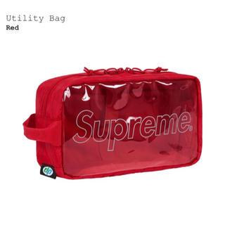 シュプリーム(Supreme)のsupreme utility bag赤(セカンドバッグ/クラッチバッグ)