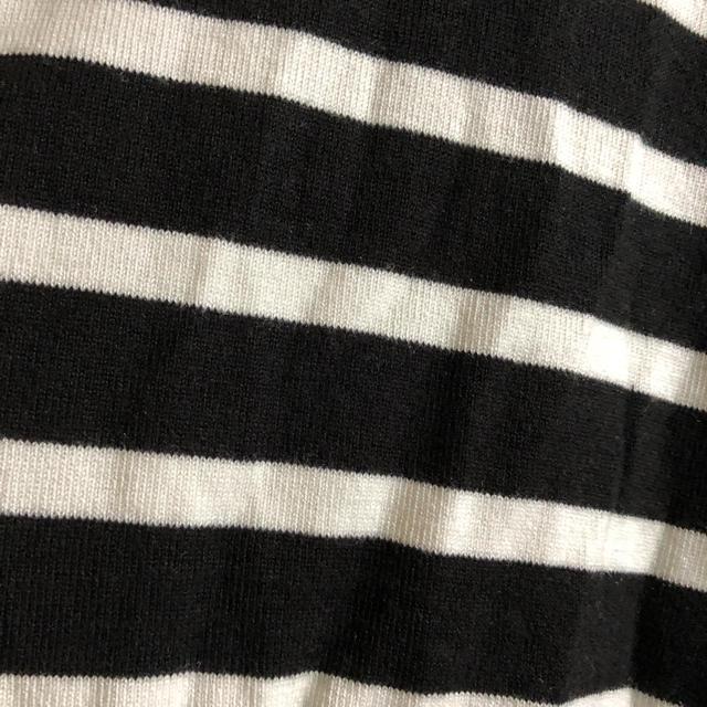 しまむら(シマムラ)の未使用  半袖リブニット  ボーダー レディースのトップス(カットソー(半袖/袖なし))の商品写真