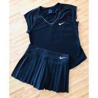 ナイキ(NIKE)のNIKE ナイキ テニスウェアスコートのみ 黒(ウェア)