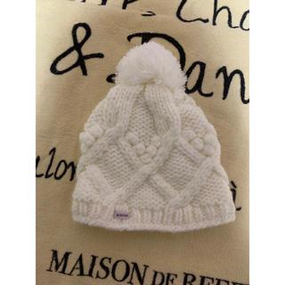バートン  ニット帽 White kids
