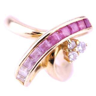 JEUNET ジュネ リング グラデーション ピンクサファイア ダイヤ K18(リング(指輪))
