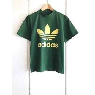 アディダス(adidas)の【美品】adidas アディダス『トレフォイルビッグロゴ』プリントTシャツ/深緑(Tシャツ/カットソー(半袖/袖なし))