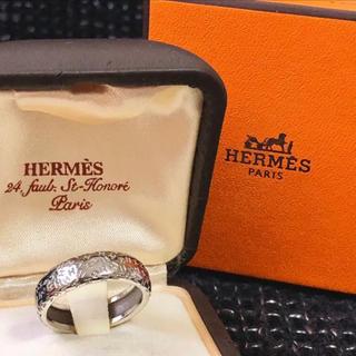 エルメス(Hermes)のHERMES エルメス  トゥーブー リング 指輪 K18 WG 58 19(リング(指輪))