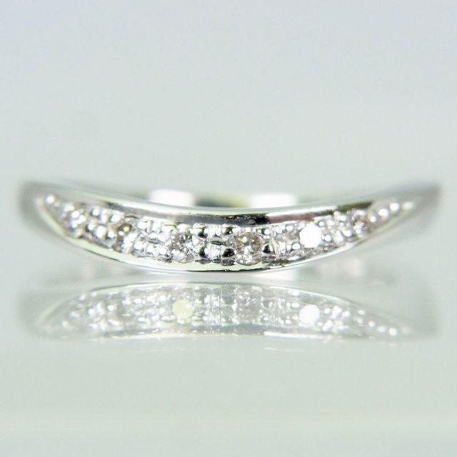 STAR JEWELRY(スタージュエリー)のスタージュエリー K18WG ダイヤ リング 3号[f433-8] レディースのアクセサリー(リング(指輪))の商品写真