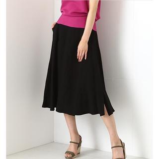 デミルクスビームス(Demi-Luxe BEAMS)のデミルクスビームス リネンフレアスカート(ひざ丈スカート)