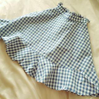 リズリサ(LIZ LISA)のギンガムフレアスカート(ひざ丈スカート)