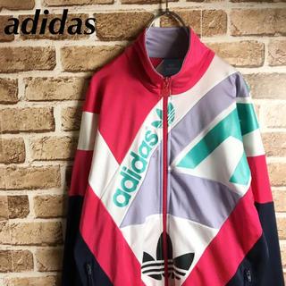 アディダス(adidas)のクレイジーカラー! adidas トラックトップ ジャージ 赤 紺 白 緑 黒(ジャージ)