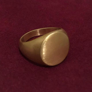 STAINLESS STEEL 丸型カレッジリング ゴールド 艶消し(リング(指輪))