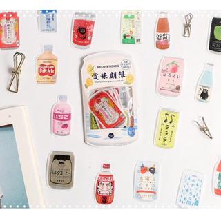 海外製フレークシール 『賞味期限』20枚 おすそ分けファイルや手帳のデコに!(シール)