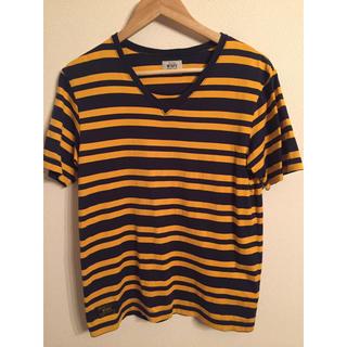 ダブルタップス(W)taps)のwtaps  Vasque 15ss ボーダー Vネック Tシャツ S イエロー(Tシャツ/カットソー(半袖/袖なし))