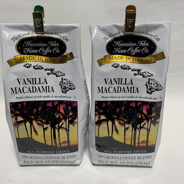 Kona(コナ)のハワイアンアイルズ コナコーヒー バニラマカデミア 283g✖️2パックセット 食品/飲料/酒の加工食品(その他)の商品写真