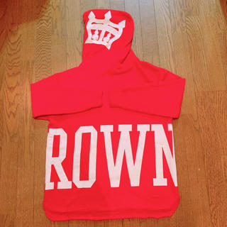 ロデオクラウンズワイドボウル(RODEO CROWNS WIDE BOWL)のRCWB☆ロデオロゴプリントパーカー☆トレーナー.シェルター(パーカー)