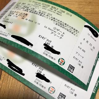 ワンオクロック(ONE OK ROCK)のエドシーラン  ed sheeran 大阪 チケット  (海外アーティスト)