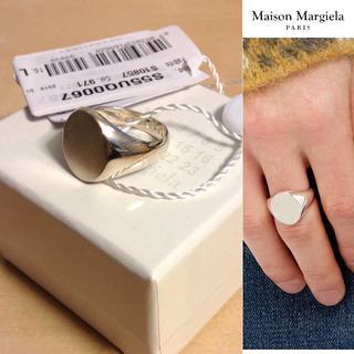 マルタンマルジェラ(Maison Martin Margiela)の新品■L■マルジェラ■18ss■シルバー オーバルリング■指輪■5794(リング(指輪))