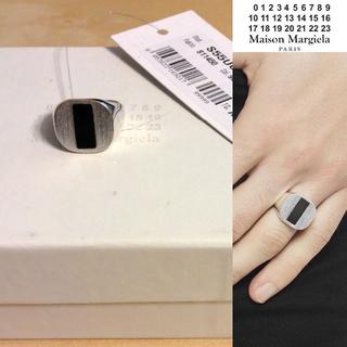 マルタンマルジェラ(Maison Martin Margiela)の新品■XS■マルジェラ18ss■オニキスシルバーリング■指輪■5803 (リング(指輪))