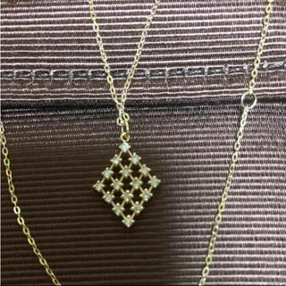 ココシュニック(COCOSHNIK)のココシュニック★ダイヤひし形K18(ネックレス)