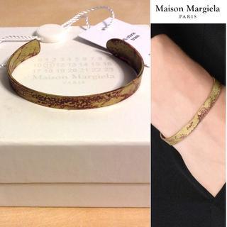 マルタンマルジェラ(Maison Martin Margiela)の新品■S■マルジェラ 16aw■サビ加工ナンバリングブレス■金■5733(ブレスレット)