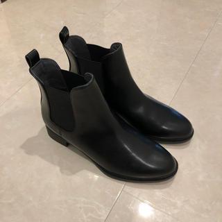 ユニクロ(UNIQLO)のユニクロ サイドゴアショートブーツ 23.0cm(ブーツ)