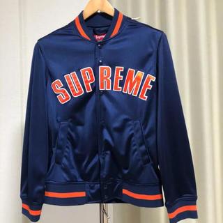 シュプリーム(Supreme)の美品 supreme arc logo ジャケット メッシュ ネイビー(その他)