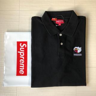 シュプリーム(Supreme)のMサイズ 新品半タグ付き supreme ポロシャツ ブラック(ポロシャツ)