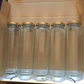八角瓶  ハーバリウム ボトルフラワー ジャム瓶(各種パーツ)